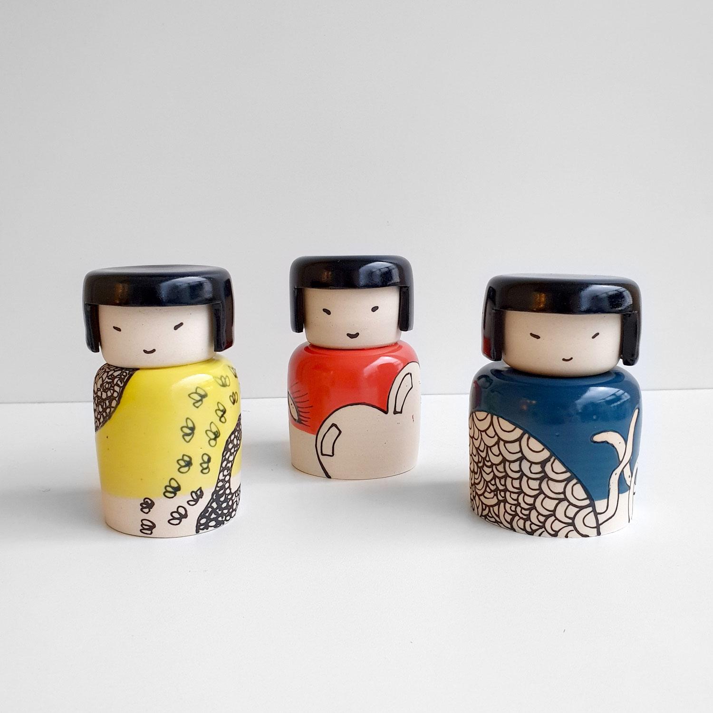JG ceramic poupee japonaise